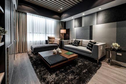 134平米现代风格摩登时尚大三居装修