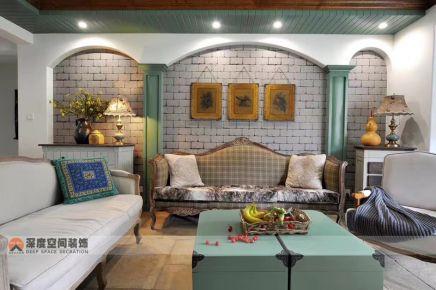 惠州卧龙小区地中海风格家庭装修效果赏析