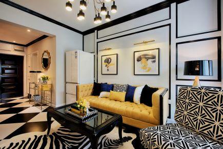 武汉都市开来小区  三居室创意混搭风装修效果图
