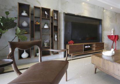 武汉海赋江城小区 三居室中式风格装修效果图