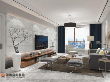 惠州亲水湾 现代风格家庭装修设计效果图赏析