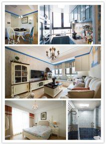 武汉远洋世界剑桥郡112平地中海风格三居装修