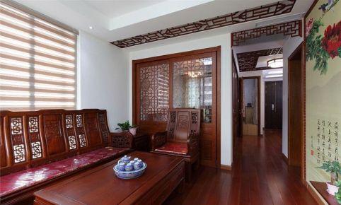 东莞万江区60平三居室中式风格装修效果图