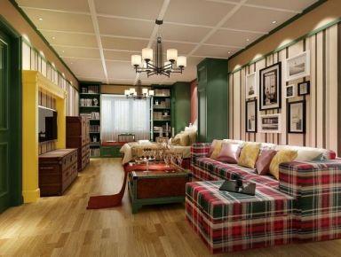 东莞石排镇52平米两居室英式风格装修设计