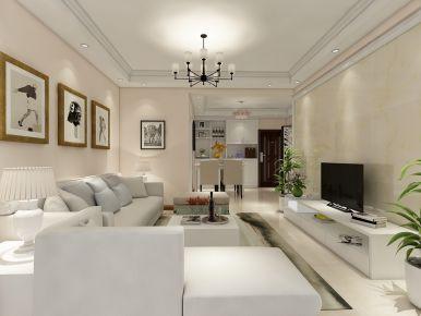 长沙东湖帝景小区   简约风格家庭装修设计效果图