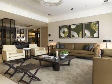 黑白色调现代简约两居室装修效果图