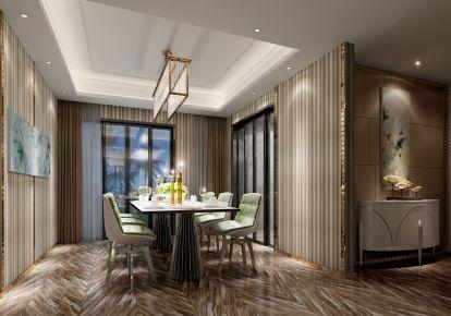 长沙南湖一号装修 二居室简约风格装修效果图