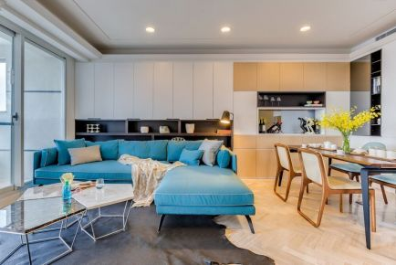 贵阳夏日的简约91平现代小公寓装修
