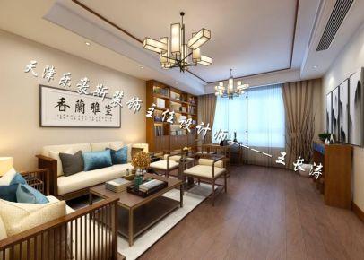 天津宝能成 三居室新中式风格装修效果图