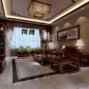 天津海河大观 三居室新中式风格装修设计