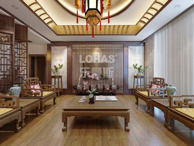 天津富力津门湖芳堤花园 简约中式风格别墅装修设计