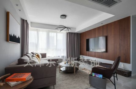 天津旺海公府 二居室现代简约装修设计效果图