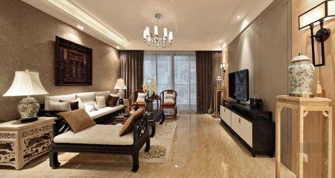 简单中式130平温馨三居室装修