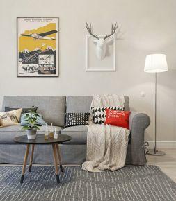 130平北欧简约风三居室装修欣赏
