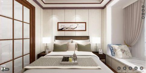 惠州方直君御中式风格四居室装修效果图