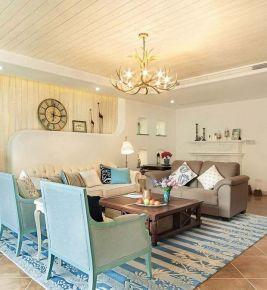 130平地中海风格大三居装修 贵阳长沙万科城