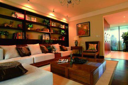 无锡三居室东南亚风格家装效果图-万科维园