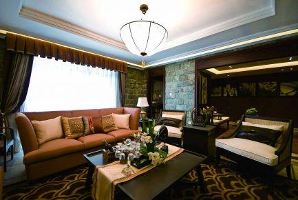 无锡东南亚风格家庭装修设计效果图-领秀琥珀澜湾
