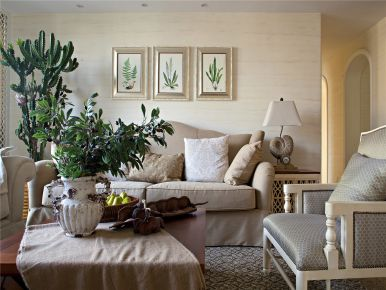 无锡地中海风格家庭装修设计效果图-胡埭立人花园