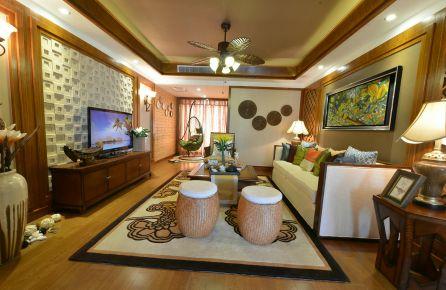 无锡三居室东南亚风格装修-华仁凤凰城798街区