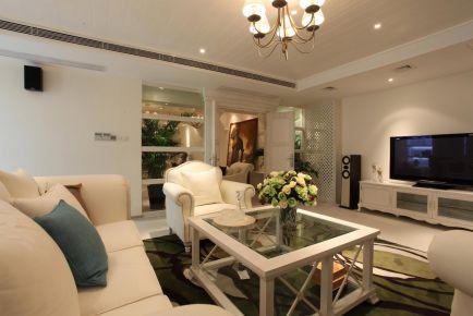 无锡三居室地中海风格装修设计效果图-华仁凤凰郡