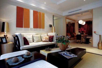 无锡东南亚风格家装效果图欣赏-达安尚品花园