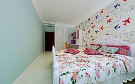 德州星凯国际 三居室中式风格装修设计效果图