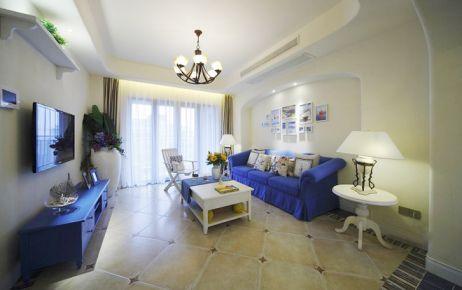 贵阳3室2厅110平米地中海风格装修效果图
