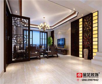 岳阳120平中式装修案例 中式风格三房装修设计