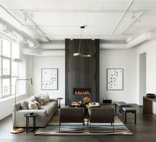 无锡现代简约三居室装修效果图-金科世界城