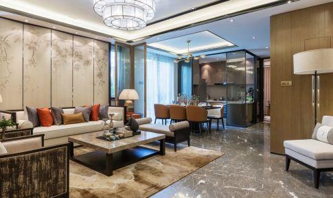 贵阳新中式大三居装修设计 古典韵味十足