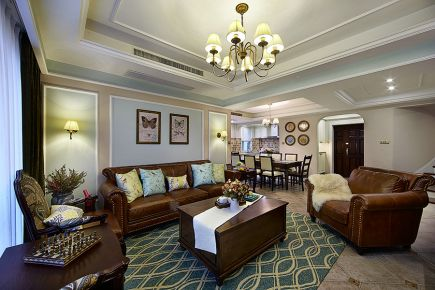 西安浐灞半岛 二居室现代风格装修设计效果图
