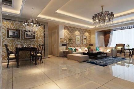 西安长安家园小区 二居室现代风格装修设计效果图