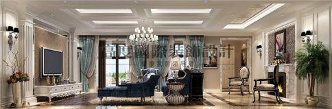 成都北欧知识城美式风格别墅装修设计案例
