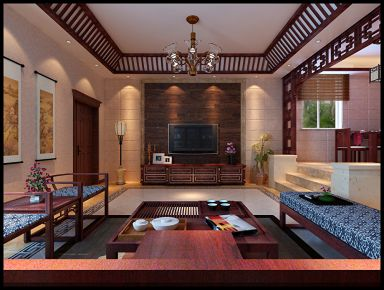 西安金地西沣公元 三居室欧式风格装修设计效果图