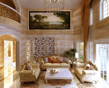 廊坊400平米欧式独栋别墅装修设计效果图