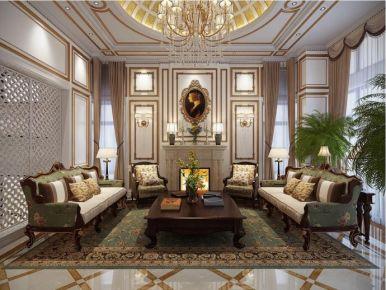 廊坊400平中式欧式混搭独栋别墅装修效果图