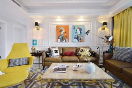 廊坊三居室现代简约风格装修效果图