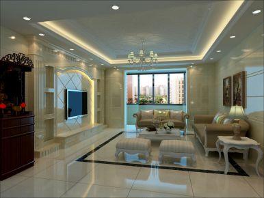 泉州石狮鼎盛骏景 简欧风格三居室装修设计