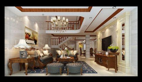 泉州南庄百盛综合楼 美式风格复式装修设计