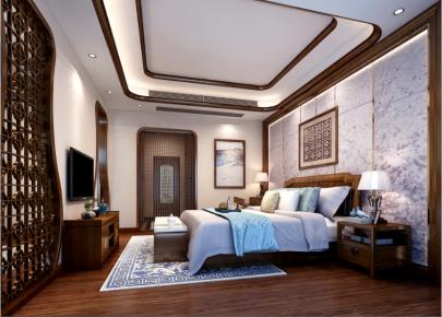 东莞松山湖观园 四居室欧式风格装修效果图
