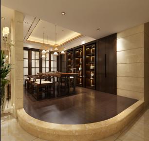 东莞松山湖观园 二居室欧式风格装修效果图