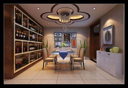 西安金辉天鹅湾 三居室现代风格装修设计效果图