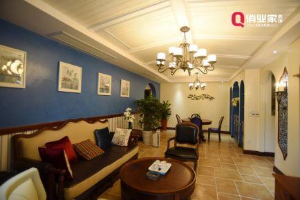 重庆雍江翠湖|98平三居室|地中海风格实景图