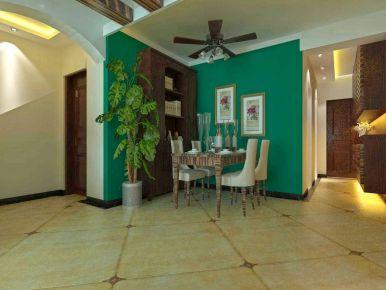济南经典小美式风格二居室装修效果图
