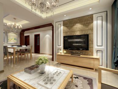 济南欧式风格三居室装修设计效果图