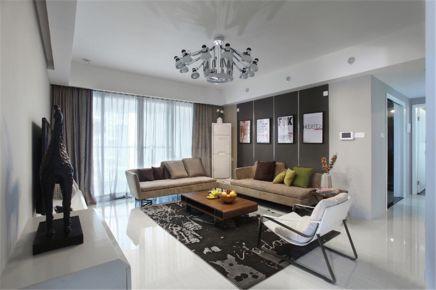 重庆生活家装饰  131平米现代美式风格装修效果图
