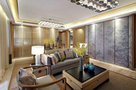 贵阳112平新中式风竹木清风三居室装修