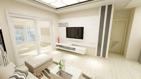 简约两居室装修效果图 济南世贸天城