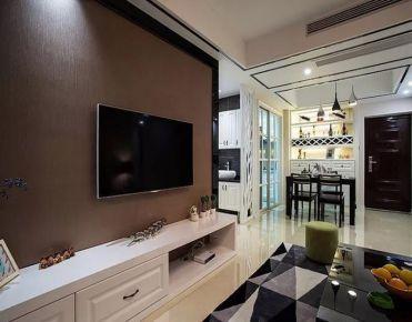小空间的低调奢华 三居室简约风家装效果图欣赏